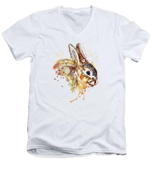 Mr. Bunny Men's V-Neck T-Shirt by Marian Voicu