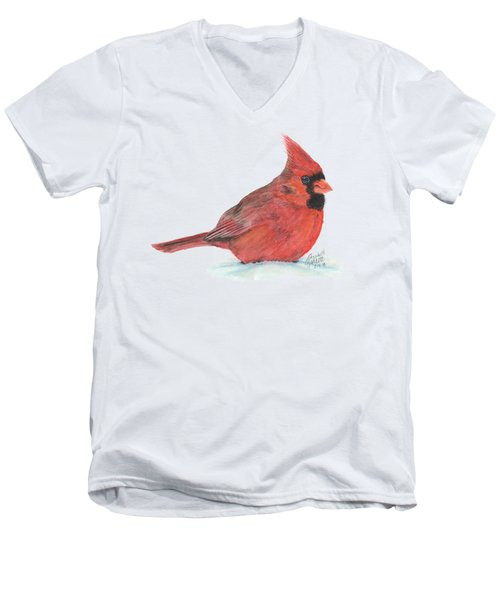 Mr Cardinal Men's V-Neck T-Shirt