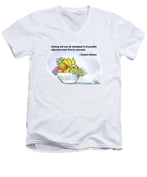 Mr. Grape And Dr. Johnson Men's V-Neck T-Shirt