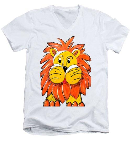 Mr. Lion Men's V-Neck T-Shirt by Tami Dalton