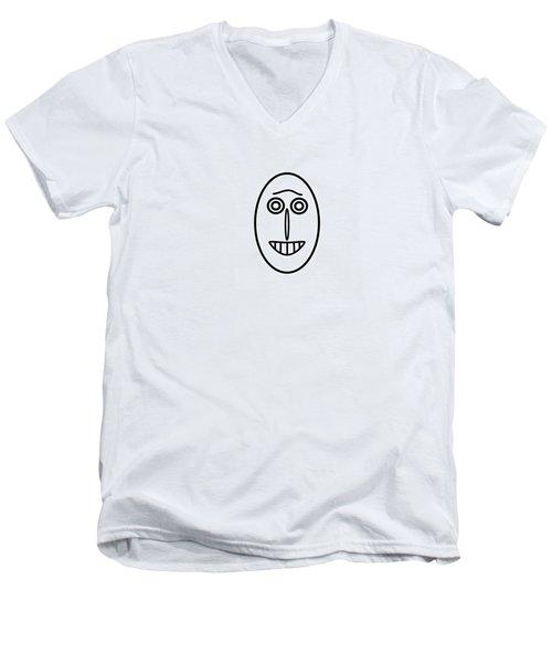 Mr Mf Has A Smile Men's V-Neck T-Shirt
