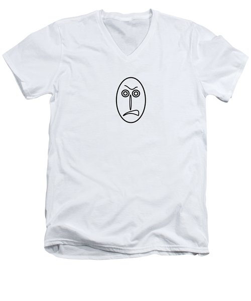 Mr Mf Is Very Angry Men's V-Neck T-Shirt