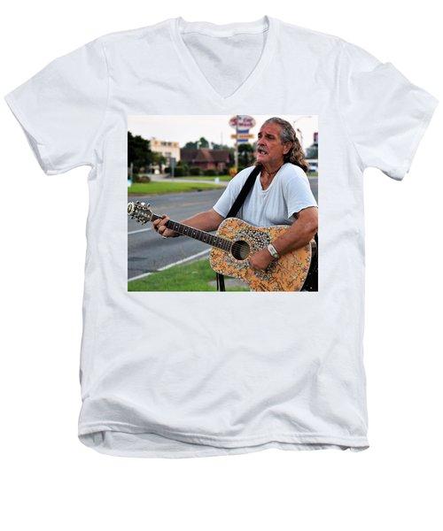 Mr. Terry Benoit Men's V-Neck T-Shirt by John Glass