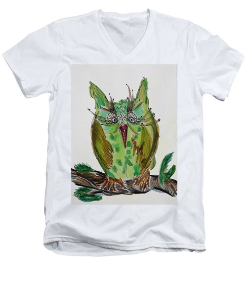 Mr.lime Owl Men's V-Neck T-Shirt