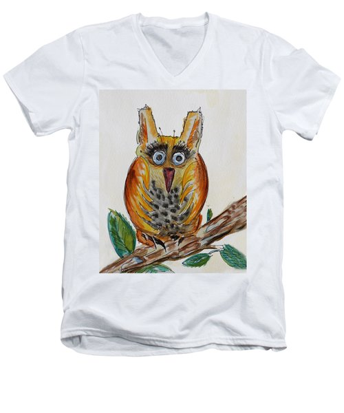 Mr.orange Owl Men's V-Neck T-Shirt