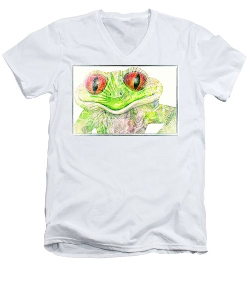 Mr Ribbit Men's V-Neck T-Shirt