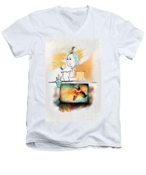 Mrs. Darwin's Theory Of Evolution Self Portrait  Men's V-Neck T-Shirt