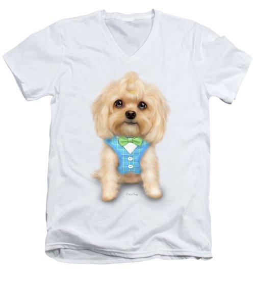 Mr.toby Waffles Men's V-Neck T-Shirt