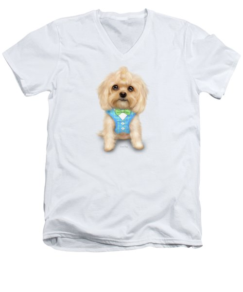 Mr.toby Waffles Men's V-Neck T-Shirt