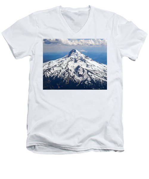 Mt. Hood From 10,000 Feet Men's V-Neck T-Shirt