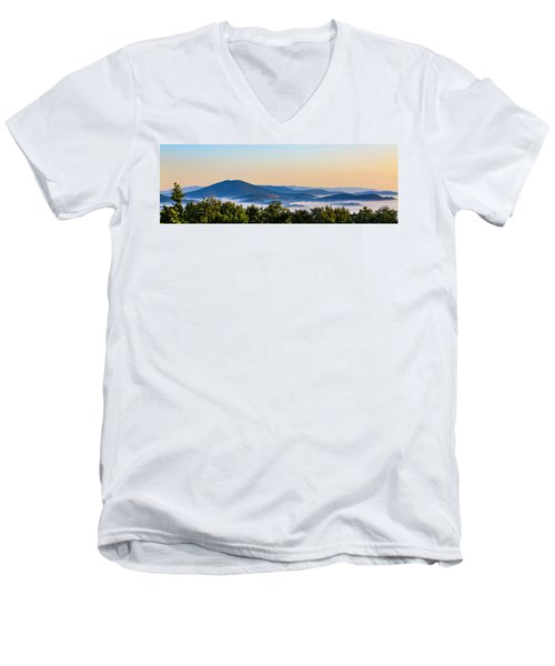 Mt. Jefferson Cloud Lake Men's V-Neck T-Shirt by Dale R Carlson