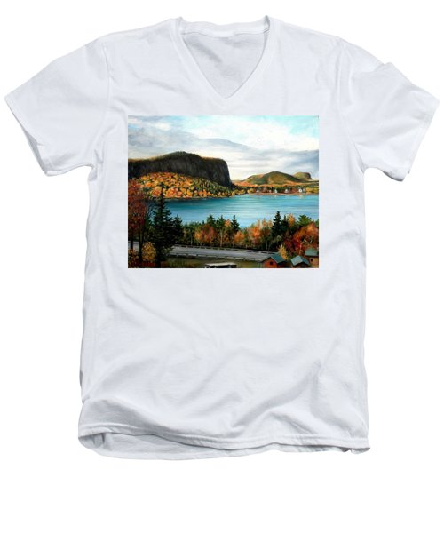Mt. Kineo, Rockwood, Maine Men's V-Neck T-Shirt