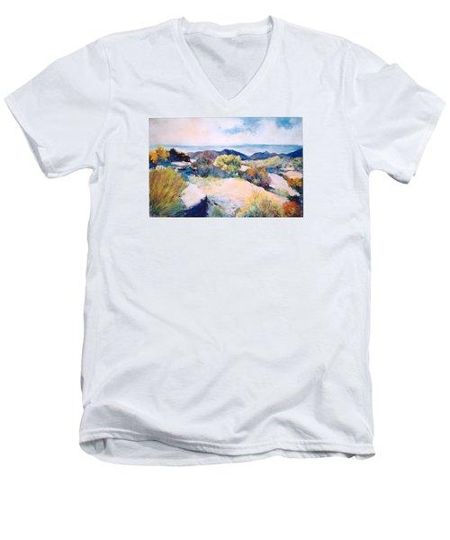 Mt Lemmon View Men's V-Neck T-Shirt by M Diane Bonaparte