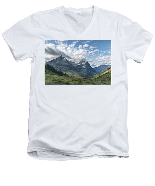 Mt. Oberlin From Logan Pass Men's V-Neck T-Shirt