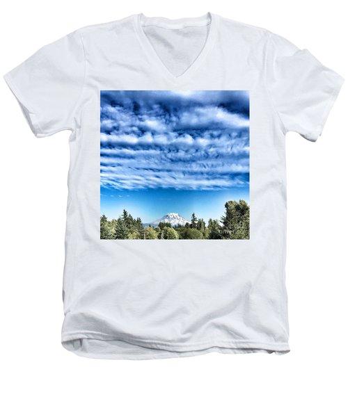 Mt Rainier Men's V-Neck T-Shirt