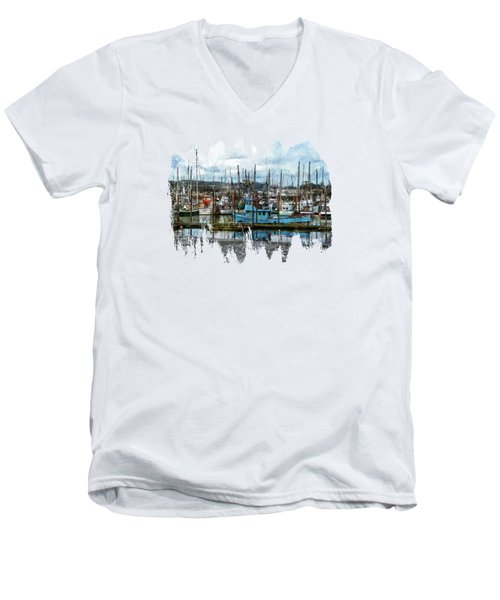 Mud Flats Men's V-Neck T-Shirt