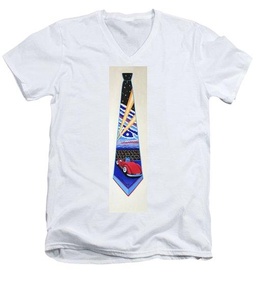 Mulholland Drive Men's V-Neck T-Shirt by Tracy Dennison