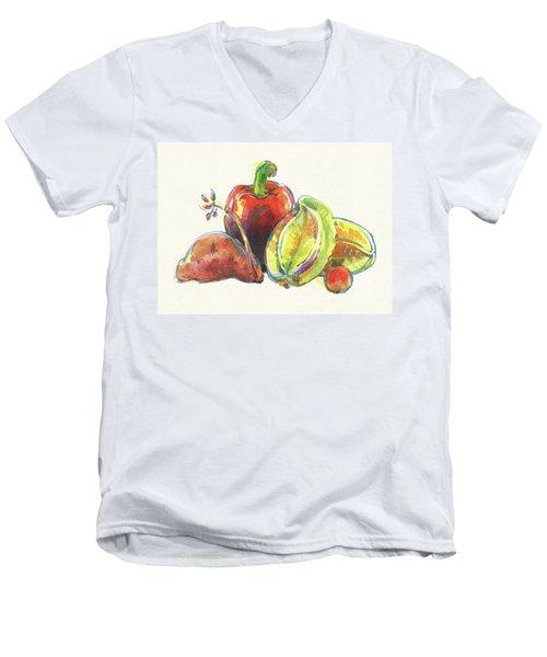 Multi-cultural Friends Men's V-Neck T-Shirt