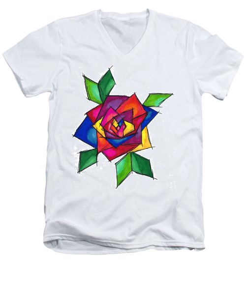 Multi Rose Men's V-Neck T-Shirt