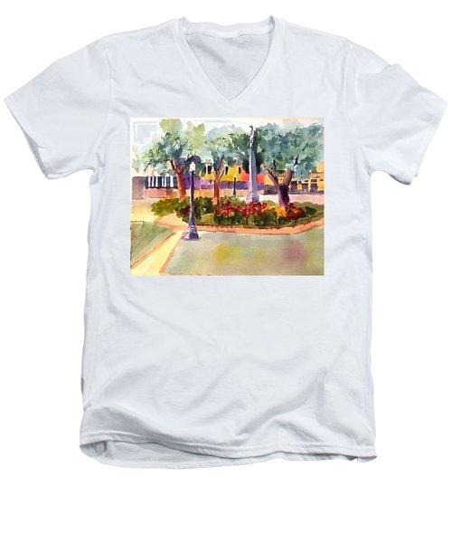 Munn Park, Lakeland, Fl Men's V-Neck T-Shirt by Larry Hamilton