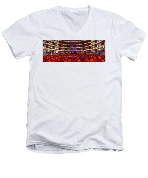 Men's V-Neck T-Shirt featuring the photograph Murrel Kauffman Theater by Jim Mathis