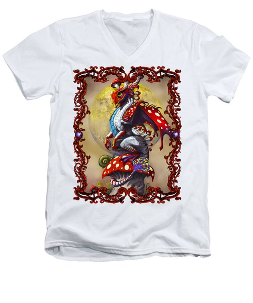 Mushroom Dragon T-shirts Men's V-Neck T-Shirt