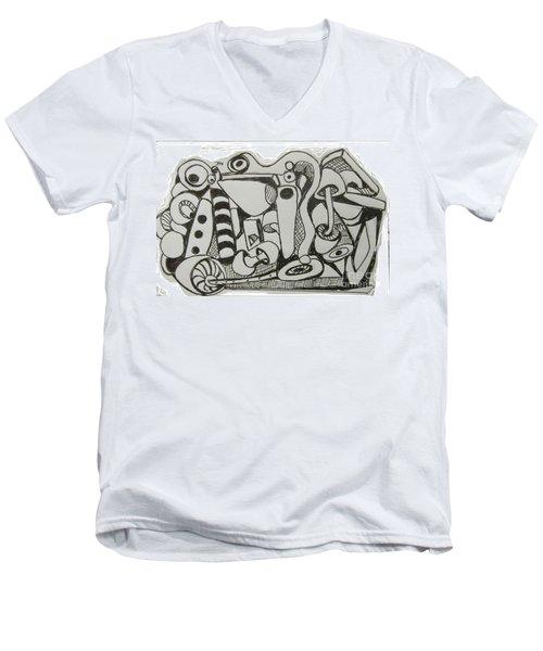 Mushroom Powered Engine 004 - Bellingham - Lewisham Men's V-Neck T-Shirt by Mudiama Kammoh