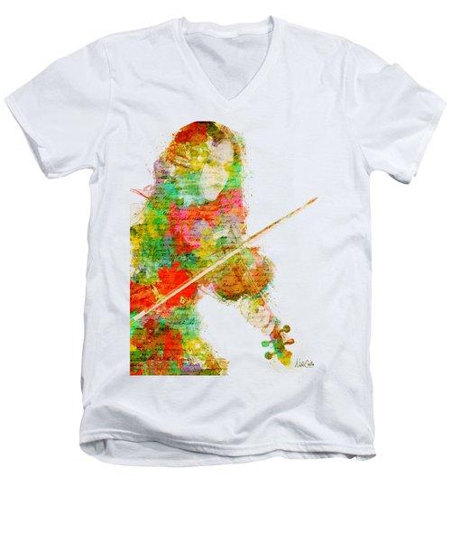 Music In My Soul Men's V-Neck T-Shirt
