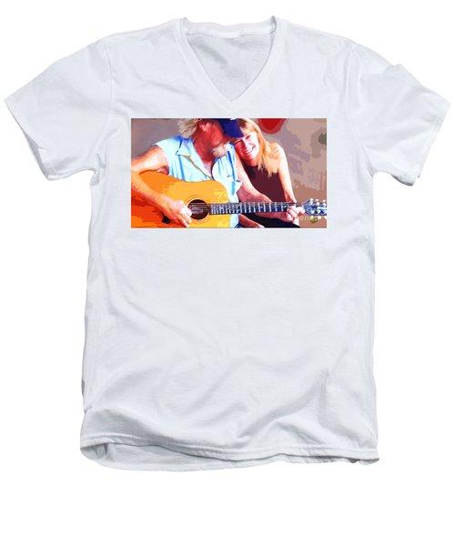 Music Lovers Men's V-Neck T-Shirt