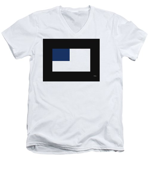 Men's V-Neck T-Shirt featuring the digital art Music Notes 14 by David Bridburg