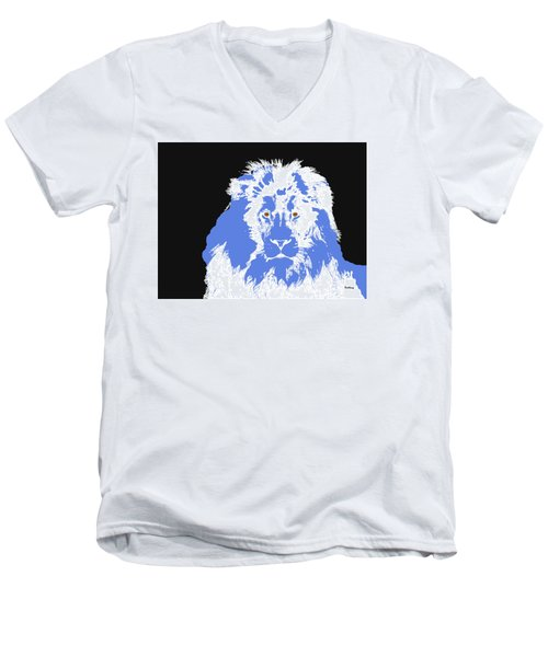 Men's V-Neck T-Shirt featuring the digital art Music Notes 15 by David Bridburg