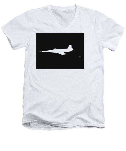 Men's V-Neck T-Shirt featuring the digital art Music Notes 8 by David Bridburg