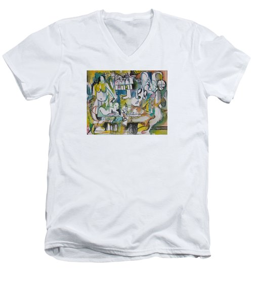 Musical Abstraction  Men's V-Neck T-Shirt
