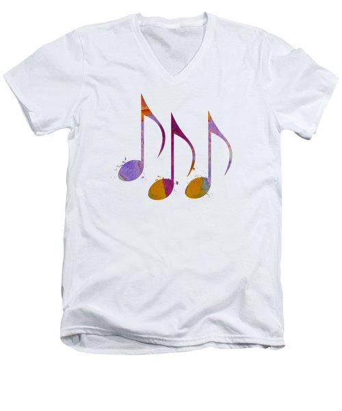 Musical Notes Men's V-Neck T-Shirt