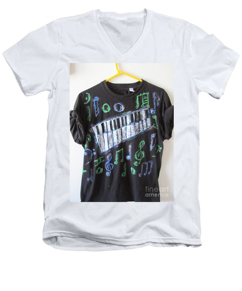 Musician Tee Shirt - Sierra Leone Men's V-Neck T-Shirt by Mudiama Kammoh