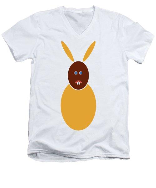 Mustard Bunny Men's V-Neck T-Shirt