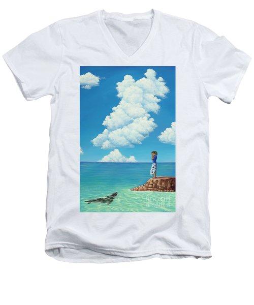 Mutual Curiosity Men's V-Neck T-Shirt