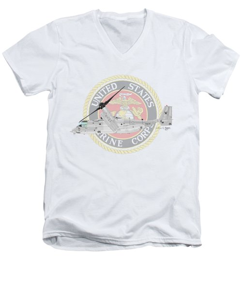 Mv-22bvmm-261 Men's V-Neck T-Shirt