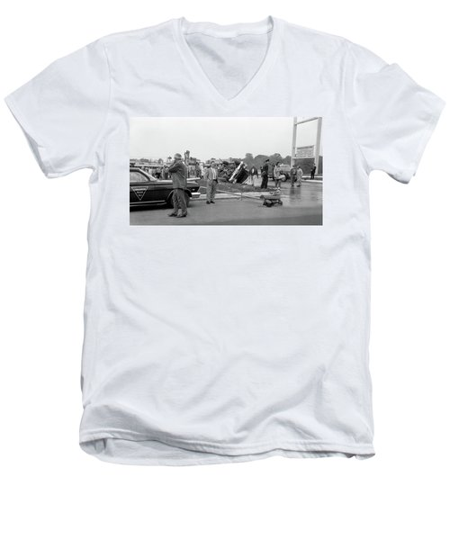 Mva At Shopping Center Men's V-Neck T-Shirt