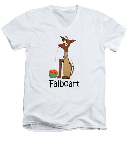 My Applehead Chiwawa Men's V-Neck T-Shirt by Anthony Falbo