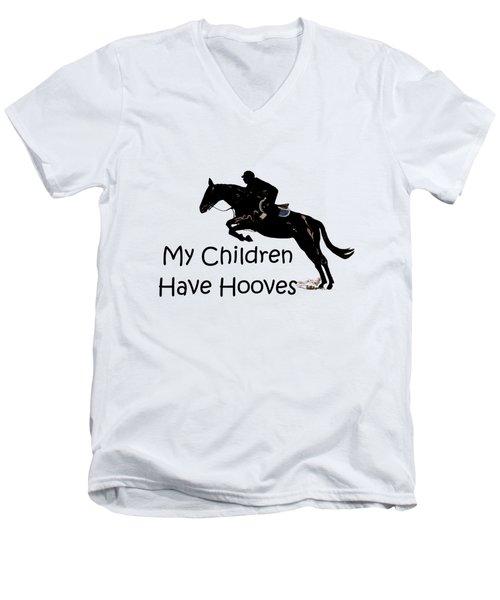 My Children Have Hooves Men's V-Neck T-Shirt by Patricia Barmatz