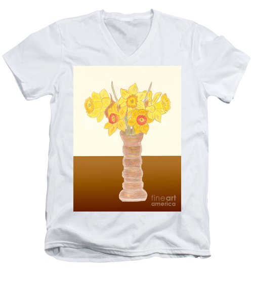 My Daffodils Men's V-Neck T-Shirt