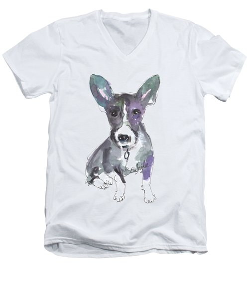 My Dog Ultra Violet Men's V-Neck T-Shirt