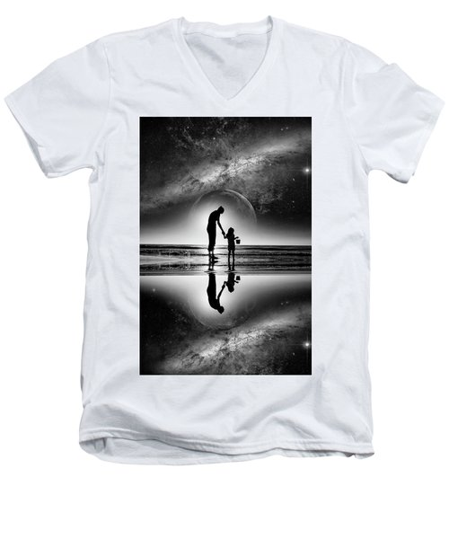 My Future Men's V-Neck T-Shirt by Kevin Cable