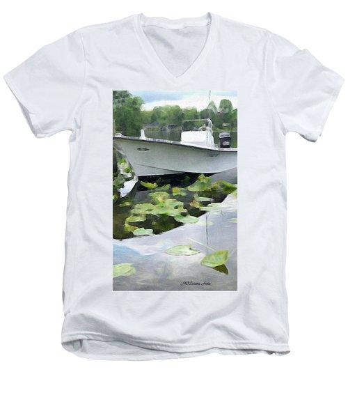 My Grandson's Boat Men's V-Neck T-Shirt