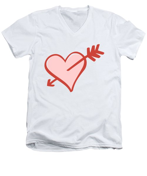 Men's V-Neck T-Shirt featuring the digital art My Heart by Alice Gipson