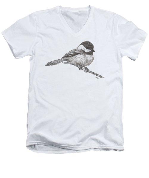 My Little Chickadee-dee-dee Men's V-Neck T-Shirt by Mary-Ellen Arsenault