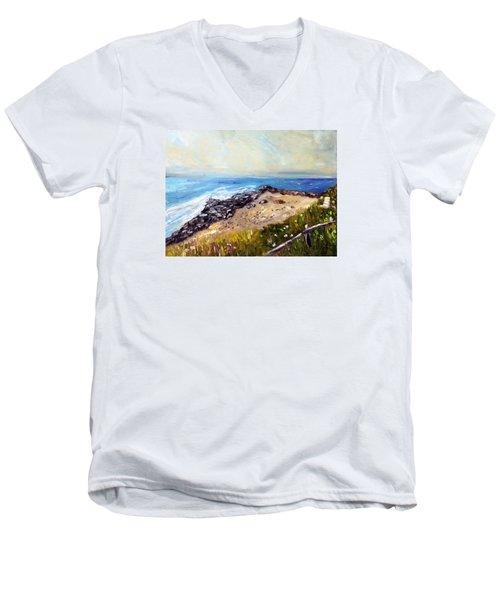 My Little Patch Of Beach Men's V-Neck T-Shirt