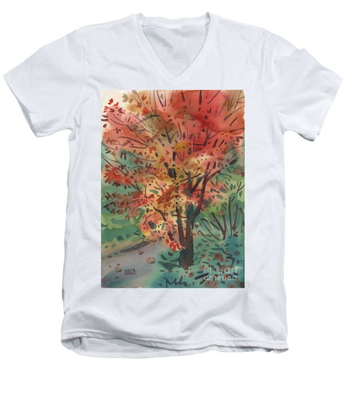 My Maple Tree Men's V-Neck T-Shirt by Donald Maier