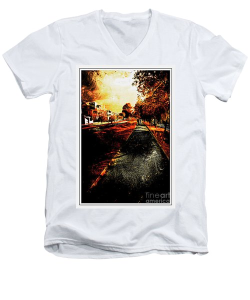 My Neighborhood Men's V-Neck T-Shirt by Al Bourassa